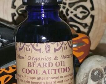 Beard Oil - Cool Autumn Blend - Natural Men's Moisturizing Vegan - 1oz