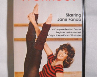 Jane Fonda Workout VHS Tape Karl Video Aerobics Hard Shell Case Celebrity Exercise 80's Style 1982