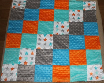 Quilted Minky Baby Boy Blanket