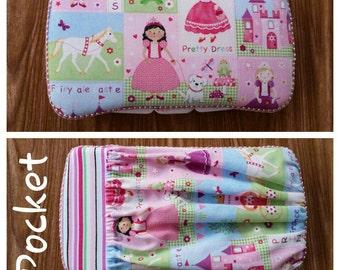 Princess Baby Girl Wipe Case,  Travel Baby Wipe Case,  Pretty Dress Wipe Case with Pocket,  Baby Wipe Case,  Wipes Case,  Baby Girl.