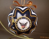 Handcrafted Quilted U. S. Navy Ornament