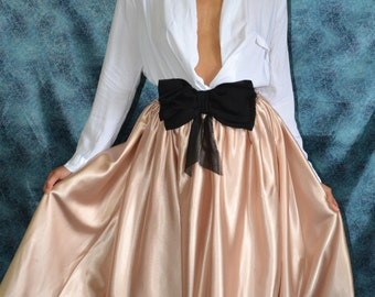 Custom made 'April' taffeta or satin pleated full skirt fashionista separates