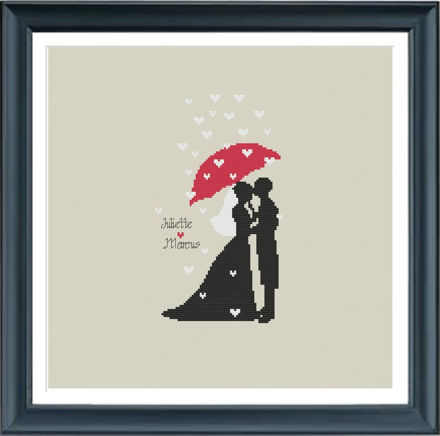 Wedding Gift Ideas For Bride From Bridesmaid: Wedding Cross Stitch Pattern, Bride And Groom, Just