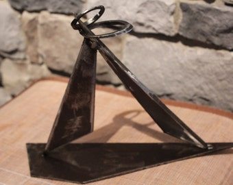 Welded metal sculpture 'Tip Toeing Through Marriage'