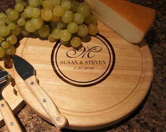 personalized cheese board cutlery set with engraved