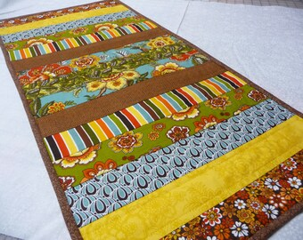 Quilted Table Runner - Table Runner - Autumn Table Runner - Ready to Ship