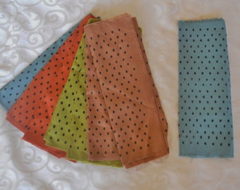 8 Vintage table napkins:  polka dots, mix and match