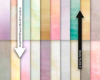 Watercolor texture digital paper pack pastel textures paint background watercolour earthtone ombre scrapbooking commercial use papers