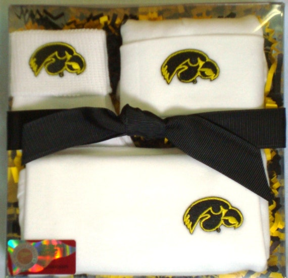Iowa Hawkeye 3 Piece Baby Clothing Gift Set by FutureTailgater