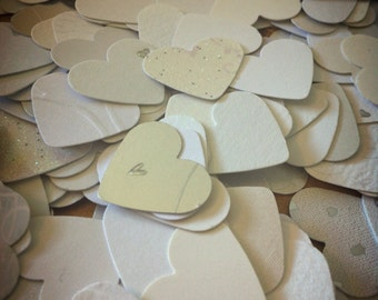 Table heart confetti. Perfect for weddings, baby showers, birthday, hen & engagement party. Shabby chic vintage