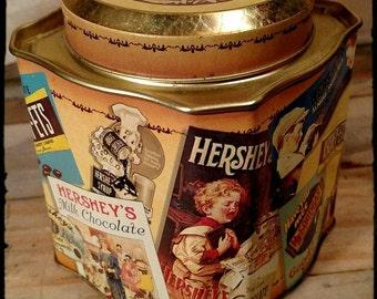 Collectible Hersheys Candy Bar Tin / Hersheys Advertising Tin / Collectible Tin / Storage Tin / Display Tin / Crafts Tin / Edition 3 / F891