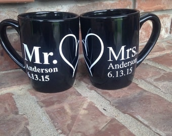 Mr. and Mrs. Coffee mug set wedding coffee mugs wedding gift