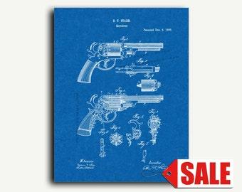 Patent Art - Revolver Gun Patent Wall Art Print