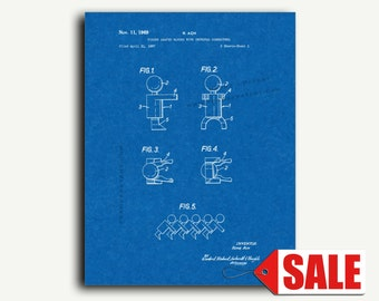 Patent Print - Figure Shaped Blocks With Connectors Patent Wall Art Poster