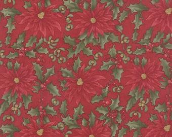 Under the Mistletoe by 3 Sisters for Moda Fabric. Crimson 44071 12.