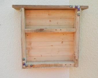 Driftwood Cabinet Shelves Stack