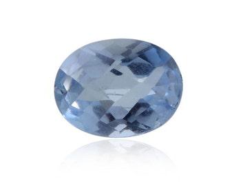 Blue Quartz Triplet Checkerboard Oval Cut Loose Gemstone 1A Quality 9x7mm TGW 1.65 cts.