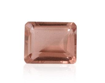 Blush Triplet Quartz Octagon Cut Loose Gemstone 1A Quality 10x8mm TGW 3.05 cts.