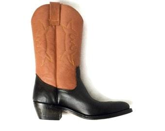 Vintage Cowboy Boots// women 9 // mens 7.5