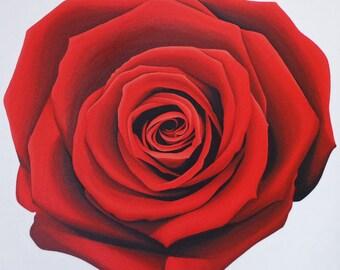Red Rose Original Artwork Acrylic Painting