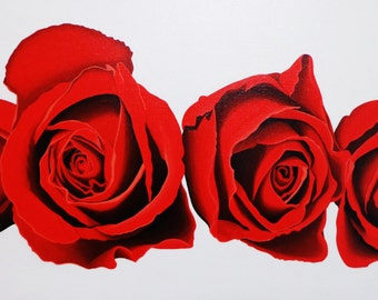 Roses Original Acrylic Canvas Painting