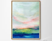 Abstract Landscape painting Giclee PRINT of ORIGINAL Acrylic Affordable Art Sky Abstract painting Fine Art nature modern painting artwork