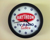 Raytheon TV / Radio Tubes Analog Wall Clock