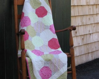 Pink and Green Quilt on SALE !!!!!
