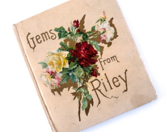1904 Gems From Riley Poetry Book