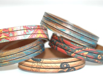 Slice Wristbands -Bohemian Leather-Double Layered Cuff-5pk-Wholesale