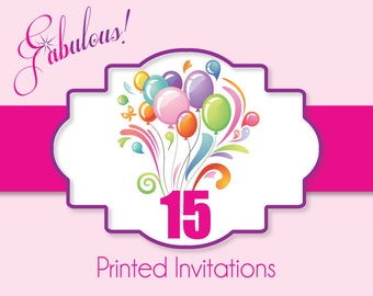 """Printing Services - Printed Party Invitations with White Envelopes 5"""" x 7"""" or 4"""" x 6"""""""