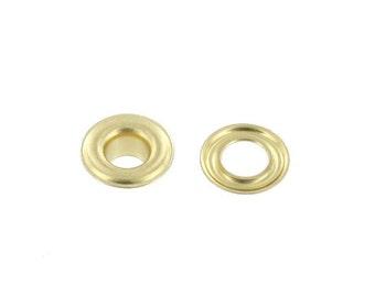 "Grommet, 3/16"" Eyelet (#00), Natural Brass, Solid Brass-LL (100 per bag)"