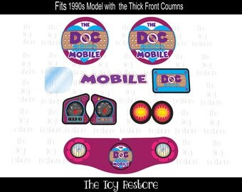 New Replacement Decals Stickers for Vtg Little Tikes Tykes Cozy Coupe Ride On Car 90s, Doc McStuffins