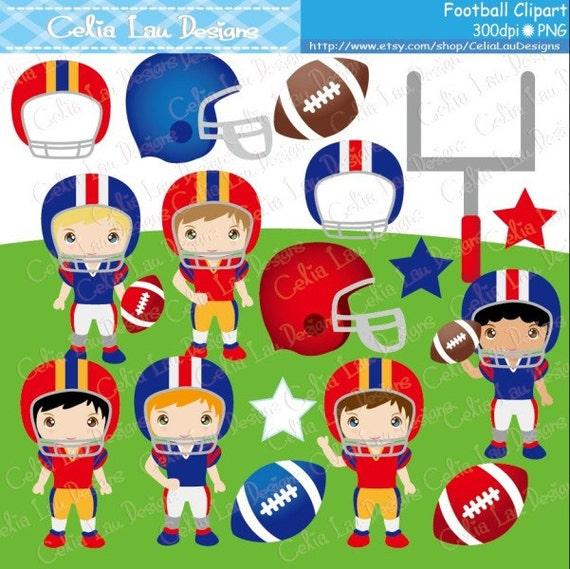 Football Clipart / Football Season clip art / sport kids clip