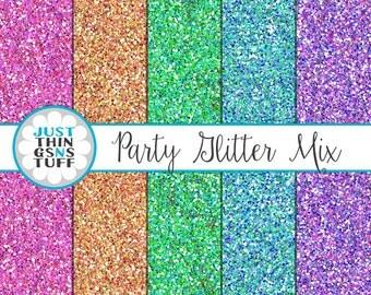 "Glitter Digital Paper ""Bright Glitter"" Seamless Pattern Background Digital Glitter Paper Texture Glitter Clipart Glitter Sparkle Paper"