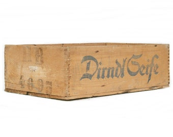 "Vintage printed wooden box ""soap"""