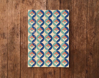 Japanese Bound A6 Notebook 'Milamber' geometric pattern – 20 pages