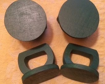 Green chalk board napkin ring/ place cards