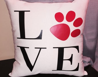 Love my dog pillow cover