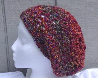 Crocheted beanie - Slouchy hat - Crochet slouchy beanie - Womens hats - Teens accessories