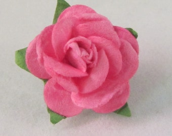 Paper Rose Lapel Pin - Pink - X-Small - Everyday / Weddings / Proms