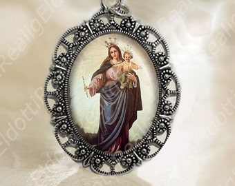Our Lady Help Of Christians Immaculate Virgin Mary Medal Catholic Jewelry NEW