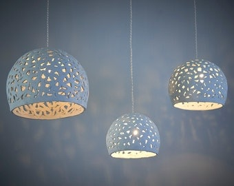Ceramic lamp shade pendant lights blue and brown lamp chandelier lighting ceramic hanging light ceiling light hanging lamp shade aloadofball Images