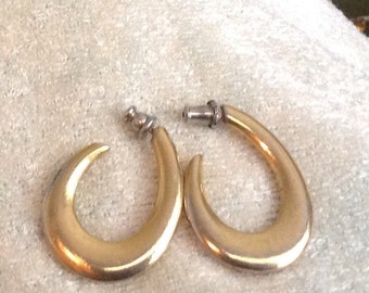 Retro Gold Metal Circle Earrings