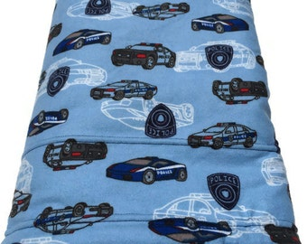 Police Baby Blanket, Police Car Blanket, Blue Baby Blanket, Police Decor, Toddler Nap Blanket, Police Birthday Party, Baby Boy Blanket