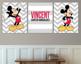 Kids Room | Mickey Mouse | Boy | Girl | Personalized | Name | Are