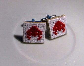 Space Invader Cufflinks