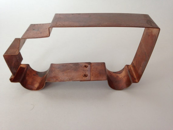 truck shaped copper cookie cutter by kitchen collectables