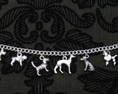 Beautiful tibetan Silver Dog Themed Charm Braclet