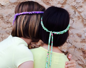 Mother daughter headband set 2, Mommy and me headband set, Matching headband Mom daughter, Boho hair accessory girls, Mommy me head band